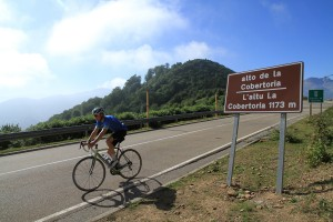 Andy summits on La Cobertoria, another 1st class summit and only 13 steep km from Casa Quiros