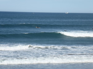 surfing at Salinas, Asturias